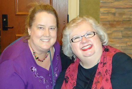 Betsy and Liz in Hershey at Women of Purpose