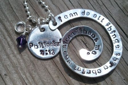 Scripture Necklace on Etsy