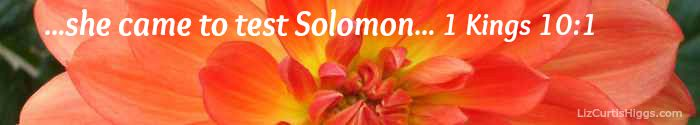 """""""...she came to test Solomon..."""" 1 Kings 10:1"""
